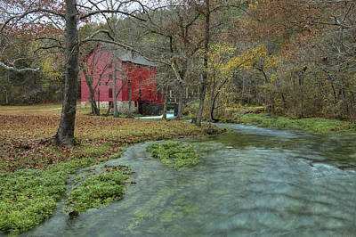 Photograph - Grist Mill Wtrees And Stream by Deb Buchanan