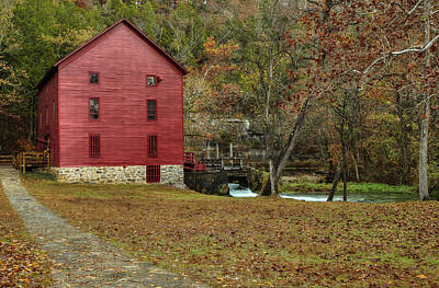 Photograph - Grist Mill Wtrees II by Deb Buchanan