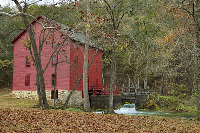 Photograph - Grist Mill Wwaterfall by Deb Buchanan