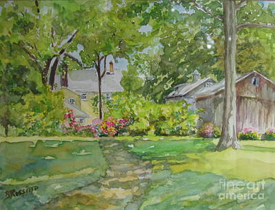 Flo Painting - Griswold House View From The River by B Rossitto