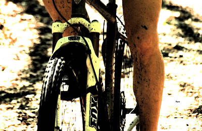 Bicycle Race Photograph - Grit  by Steven Digman