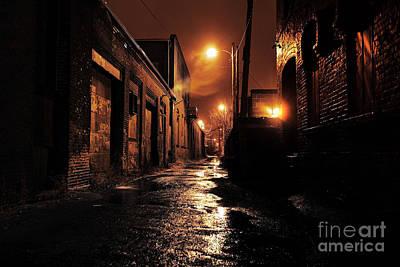 Ghetto Photograph - Gritty Dark Urban Alleyway by Denis Tangney Jr
