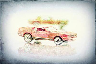 Photograph - Gritty Mustang Mach 1 by Wade Brooks