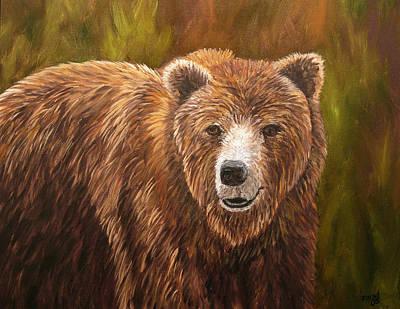 Grizzley Art Print by Mary Jo Zorad