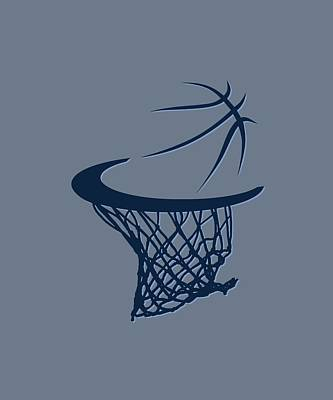 Grizzlies Basketball Hoop Art Print by Joe Hamilton