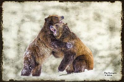 Photograph - Grizzlies by Peg Runyan