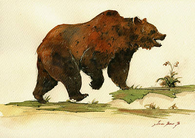 Grizzly Bear Painting - Grizzly Bear Art by Juan  Bosco