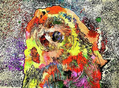 Grizzly Bear Mixed Media - Grizzly Bear Colored by Daniel Janda