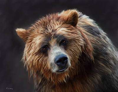 Painting - Grizzly Bear by Johanne Dauphinais