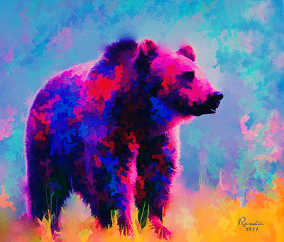 Grizzly Bear  Art Print by Rosalina Atanasova