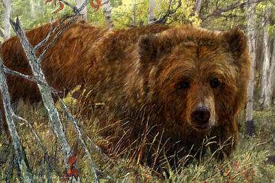 Painting - Grizzly Bear by Roy Kastning