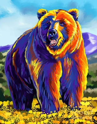 Painting - Grizzly Bear by Tim Gilliland