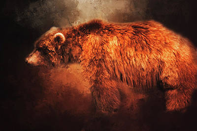 Art Print featuring the photograph Grizzly Bear  by Toni Hopper