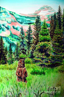 Grizzly Country Art Print by Tracy Rose Moyers