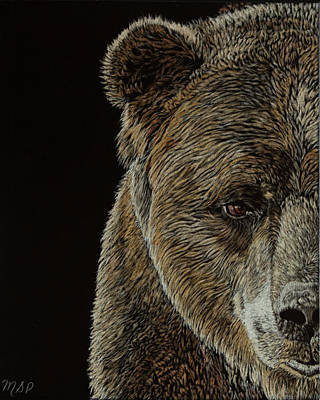 Painting - Grizzly Eye by Margaret Sarah Pardy