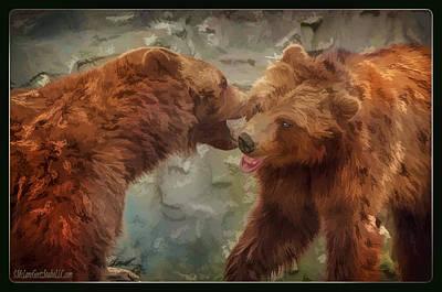 Photograph - Grizzly Gossip by LeeAnn McLaneGoetz McLaneGoetzStudioLLCcom