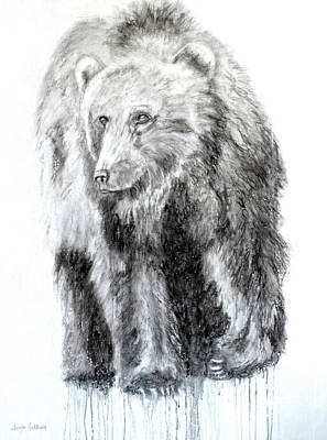 Painting - Grizzly by Jennifer Morrison Godshalk