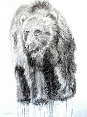 Painting - Grizzly by Jennifer Godshalk