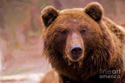 Grizzly Bear Mixed Media - Grizzly by Mylinda Revell