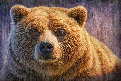Kodiak Alaska Painting - Grizzly Portrait by Phil Jaeger