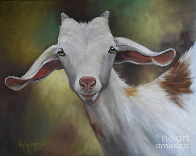 Painting - Groady The Goat by Cheri Wollenberg
