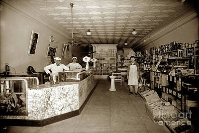 Photograph - Grocery Store Dry Goods And Butcher Shop  Circa 1920  by California Views Mr Pat Hathaway Archives