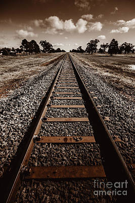 Train Tracks Photograph - Grong Grong Train Track by Jorgo Photography - Wall Art Gallery
