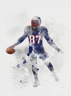 Patriot Mixed Media - Gronk by Rebecca Jenkins