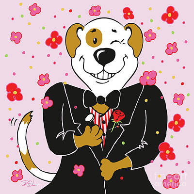Digital Art - Groom Dog by Shari Warren