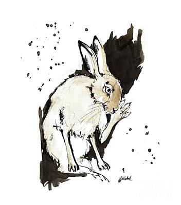 Painting - Grooming Hare 2018 05 28 by Angel Ciesniarska