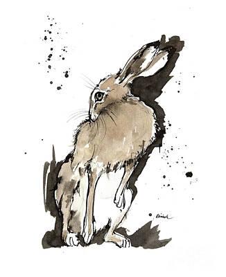 Painting - Grooming Hare 2018 05 29 by Angel Ciesniarska