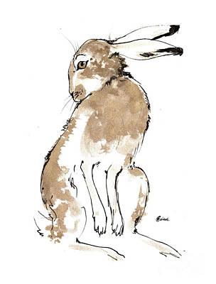 Painting - Grooming Hare 2018 05 23 by Angel Ciesniarska