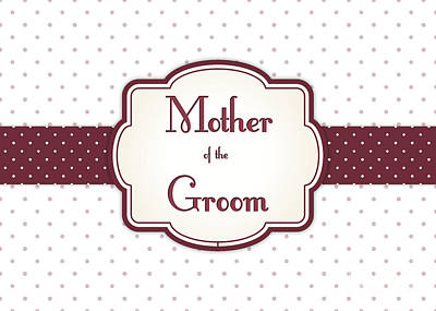 Digital Art - Groom's Mother Brown Polka Dot by JH Designs