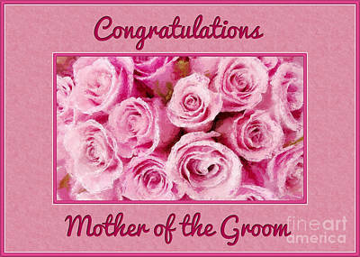 Digital Art - Groom's Mother Painted Roses by JH Designs