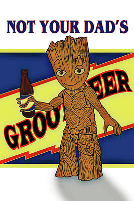 Digital Art - Groot Beer by John Haldane