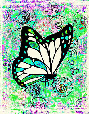 Painting - Groovy Butterfly by Tina LeCour