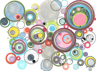 Drawing - Groovy Effervescence by Regina Valluzzi