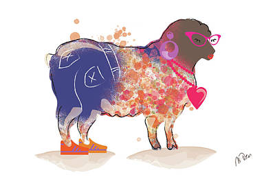 Photograph - Groovy Sheep by Mihaela Pater