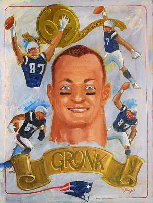 Painting - Gronk by Len Stomski