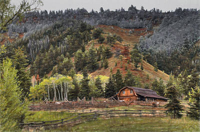 Gros Ventre River Ranch Art Print by Donna Kennedy