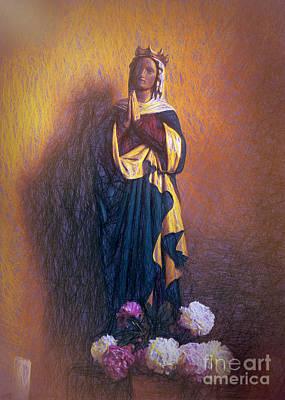 Mother Mary Digital Art - Grosslittgen Mother Mary by Gary Rieks