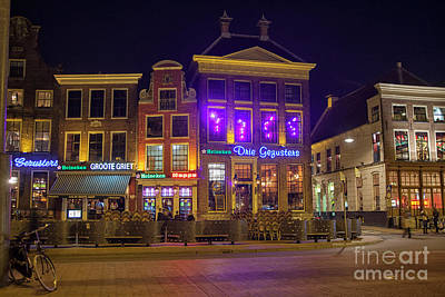 Photograph - Grote Markt In Groningen At Night by Patricia Hofmeester