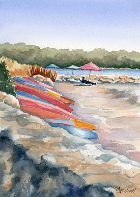 Umbrella Painting - Groton Long Point by Marsha Elliott