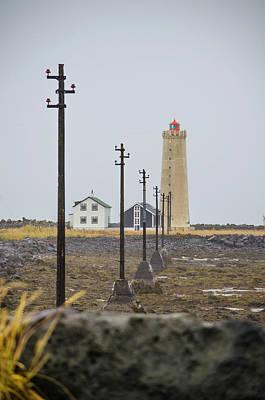 Photograph - Grotta Lighthouse Seltjarnarnes Reykjavik Iceland by Deborah Smolinske