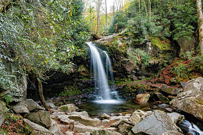Photograph - Grotto Falls by Cathie Crow