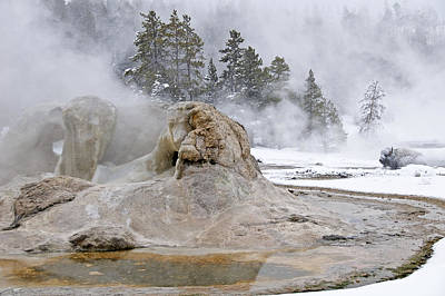 Photograph - Grotto Geyser by Gary Lengyel