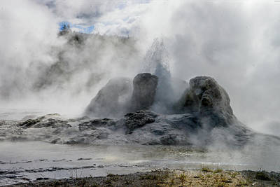 Photograph - Grotto Geyser, Yellowstone by Marilyn Burton
