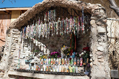 Photograph - Grotto Of Candles And Rosaries by Tom Cochran
