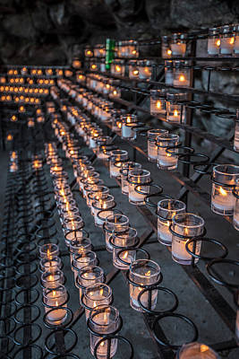 Photograph - Grotto Of Our Lady Of Lourdes Candles  by John McGraw