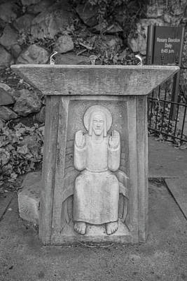 Photograph - Grotto Of Our Lady Of Lourdes Drinking Fountain  by John McGraw